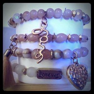 Eligant beaded bracelets